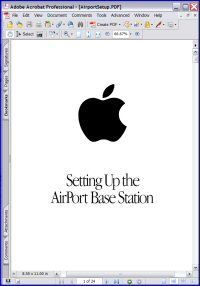 Setting Up the Apple AirPort Base Station Picture