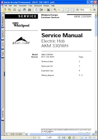 Whirlpool AKM 330/WH Electric Hob Service Manual Picture