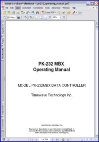 AEA PK-232 MBX Data Controller Timewave Technology Inc Operating Manual Picture
