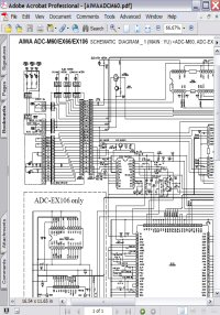 Aiwa ADC-EX66 Schematic Diagram Picture