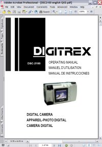 Apex Digitrex DSC-2100 Digital Camera Operating Manual Picture