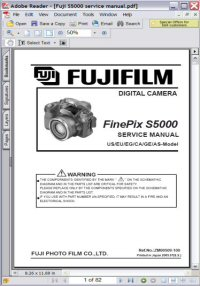 Fujifilm FinePix S5000 Digital Camera Service Manual Picture