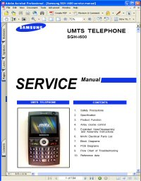 Samsung SGH-i600 UMTS Telephone Service Manual Picture