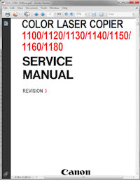 Canon Color Laser Copier 1100 Service Manual Rev. 3 Picture
