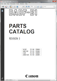 Canon DADF-B1 Copier Document Feeder Parts Catalog Revision 0 Picture
