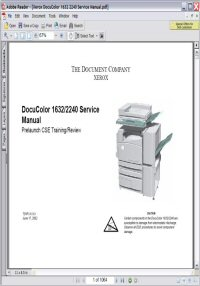 Xerox DocuColor 2240 Service Manual Picture