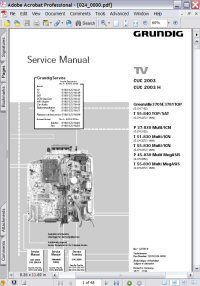 Grundig CUC 2003 TV Service Manual Picture