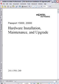 Nortel Passport 15000 Hardware Installation, Maintenance, and Upgrade Manual (241-1501-240) Picture