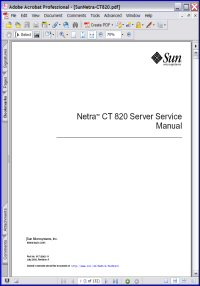 Sun Netra CT 820 Server Service Manual Picture