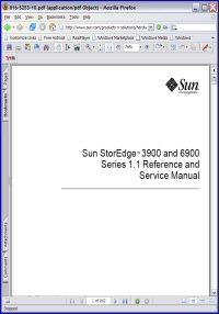 Sun StorEdge 3900 Series 1.1 Reference and Service Manual Picture