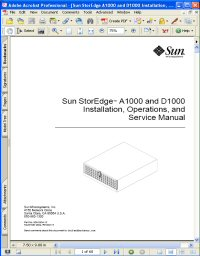 Sun StorEdge D1000 Installation, Operations and Service Manual Picture