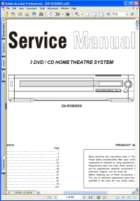 Akai DV-R3500SS DVD Home Theatre System Service Manual Picture