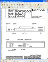 Kenwood DVF-3060-S DVD / VCD / CD Player Service Manual Picture