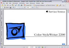 Apple Color Style Writer 2200 Service Source Manual Picture