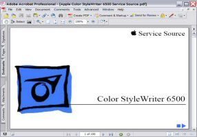 Apple Color Style Writer 6500 Service Source Manual Picture