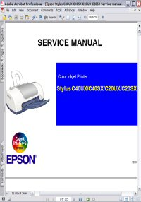 Epson Stylus C40UX Color Inkjet Printer Service Manual Picture