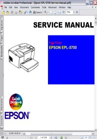 Epson EPL-5700 Page Printer Service Manual Picture