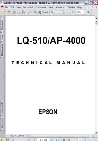 Epson AP-4000 PrinterTechnical Manual Picture