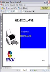 Epson Stylus C82 Color InkJet Printer Service Manual Picture