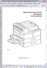 Konica Minolta QMS 4032 Laser Printer Base Engine Technical Manual Picture