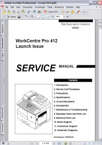 Xerox WorkCentre Pro 412 Service Manual Picture