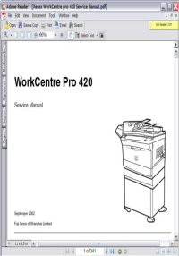 Xerox Workcentre Pro 420 Service Manual Picture
