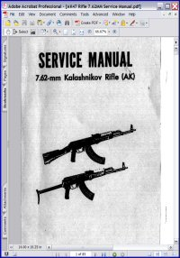 7.62-mm Kalashnikov Rifle (AK) Service Manual Picture