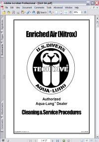 Aqua-Lung Enruched Air (Nitrox) Tech Dive Cleaning & Service Procedures Picture