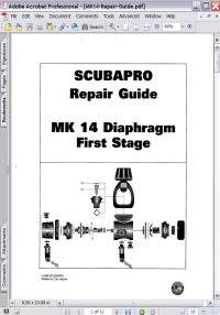 Scubapro MK 14 Diaphragm First Stage Repair Guide Picture
