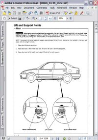 Honda Civic (92, 93, 94, 95) Service Manual Picture
