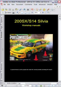 Nissan Silvia 200SX Model S14 Series Service Manual Picture