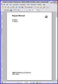 BMW R 1200 C Repair Manual Picture