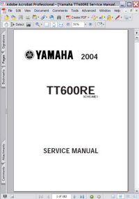 Yamaha TT600RE 2004 04 Service Manual Picture